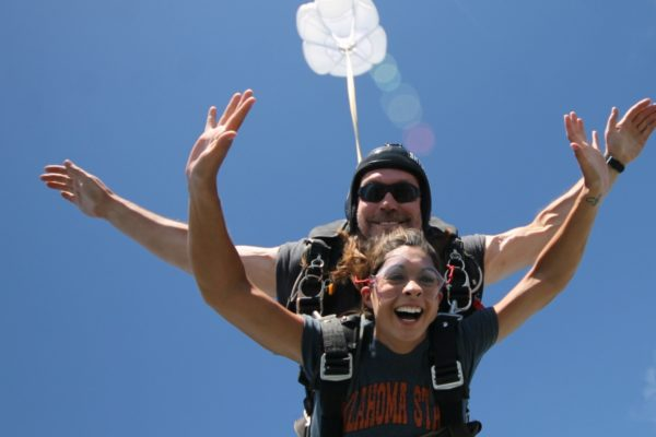 Does your stomach drop when you skydive ?