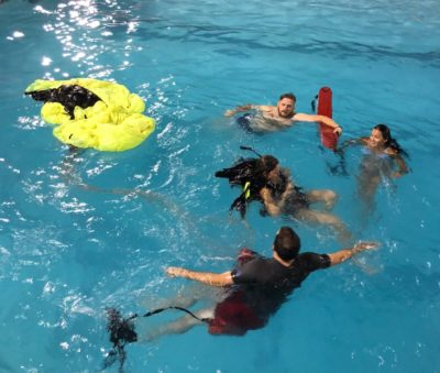 Water training was a huge success Saturday night at the pool!