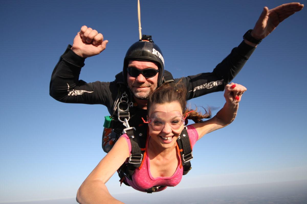 Skydiving birthday celebration