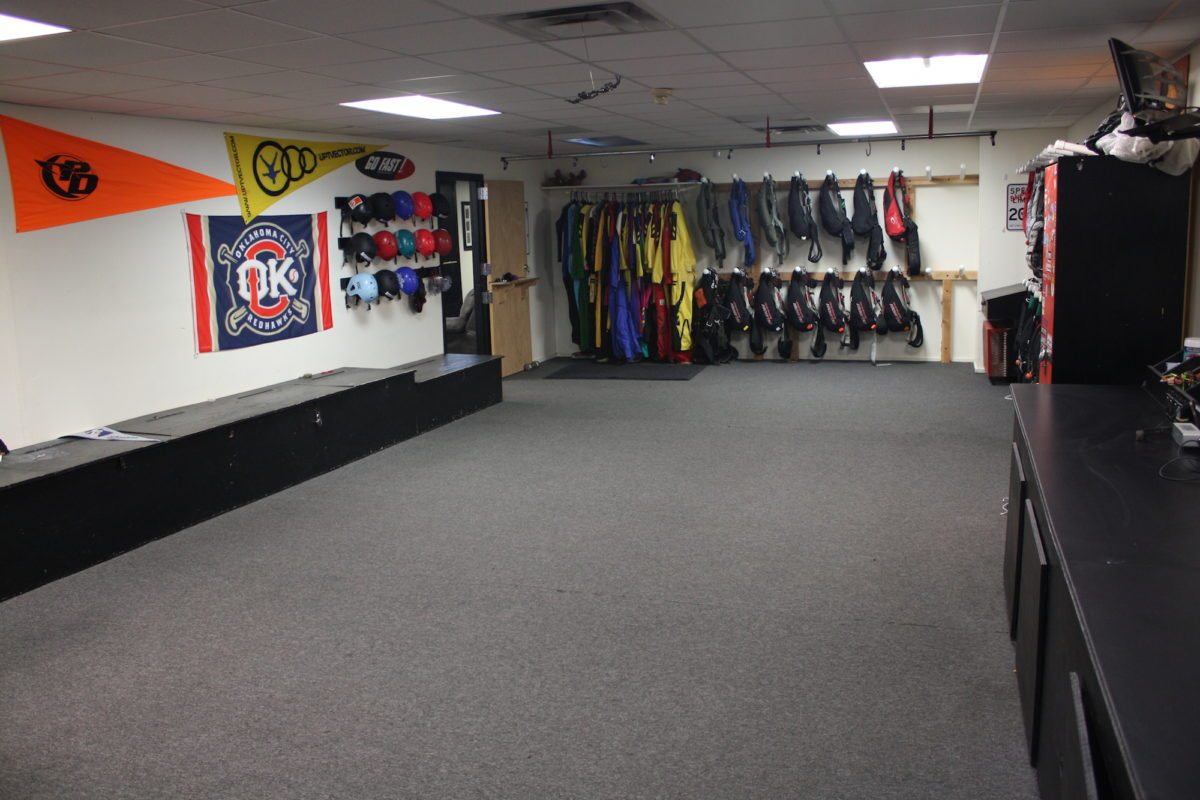 Oklahoma Skydiving Center Indoor Packing Area
