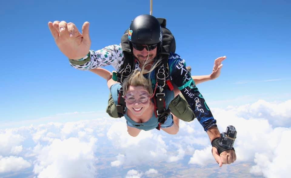 Skydiving with Clouds
