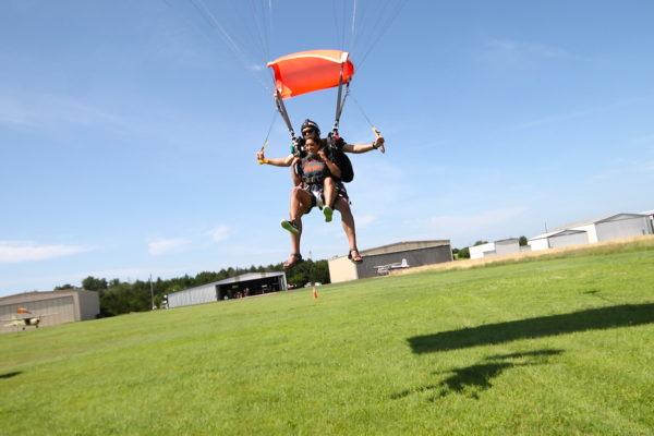 Tandem skydive landing, Oklahoma Skydiving Center