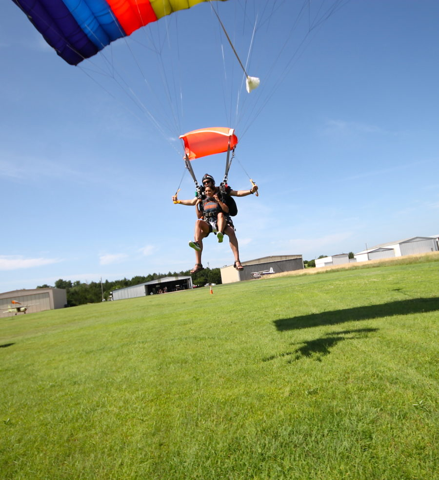 Tandem skydive landing, Oklahoma Skydiving Center