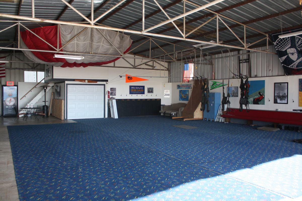 Training Hangar at Oklahoma Skydiving Center