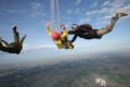 aff skydiving student deploys parachute