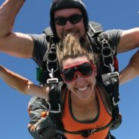 alyssa beck in freefall with andy beck