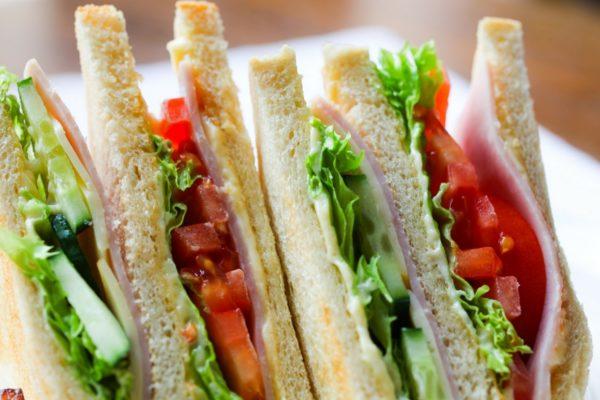 close-up photo of deli sandwich
