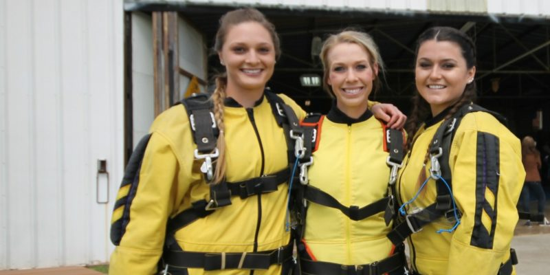 tandem skydiving. skydiving jumpsuits