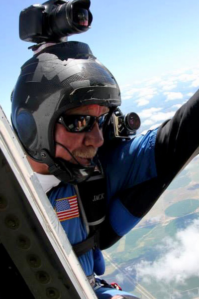 Jack has been skydiving for over 17 years. At Oklahoma Skydiving Center, he serves as USPA Coach, IAD Instructor, Videographer and Ground Crew.