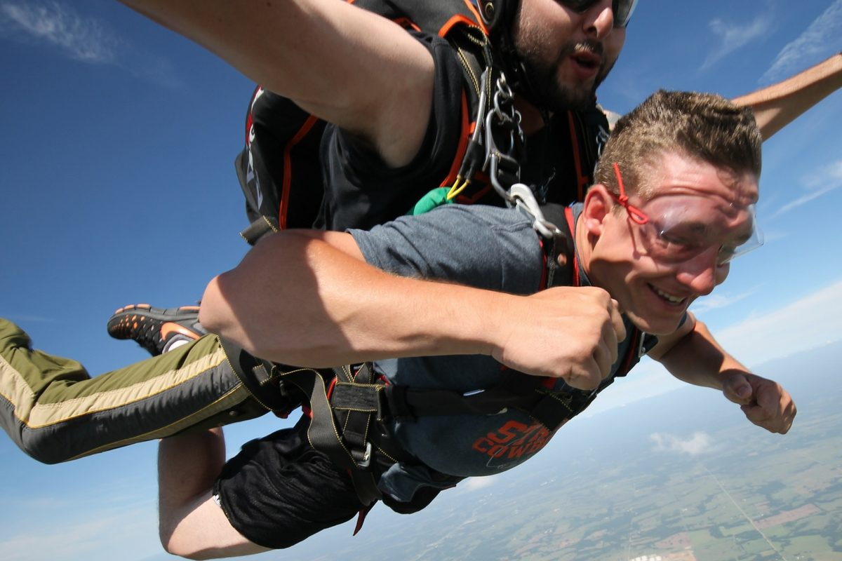 What does skydiving feels like?
